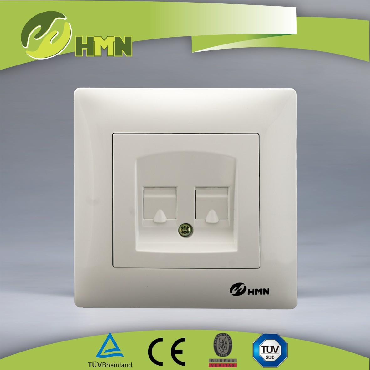 V124D  double tel socket